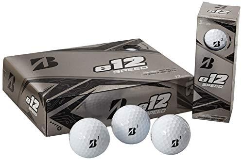 Bridgestone Golf E12 Speed - Pelotas de Golf, Color Blanco (una docena)
