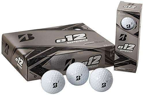Bridgestone Golf e12 Speed golfballen, wit, 1 dozijn