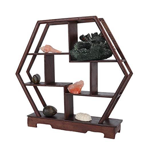 Decoración de escritorio Estante de exhibición de escritorio Estante de exhibición Estante de exhibición de talla para la decoración del hogar(6 angles)
