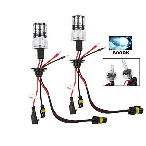 OSAN CICMOD H7 55W Xenon HID Lámparas de Bombillas Xenon 8000K (Pack of 2)