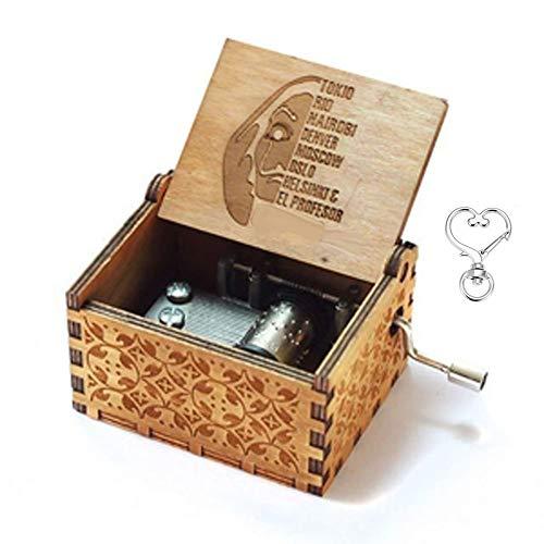 Caja de música Cuzit The Paper House Bella Ciao, mecanismo de 18 notas, caja de música tallada antigua, el mejor regalo para niños, amigos