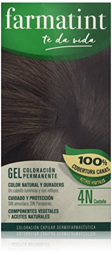 Farmatint Gel de Coloración Permanente 4N Castaño - 135 ml