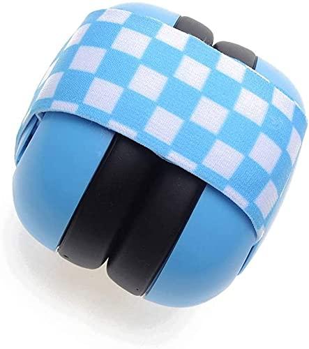 TXXM Wygodne słuchawki redukcji hałasu Noworodek Elastyczne Baby Baby Dźwiękoszczelne Earmuffs (Color : Blue)