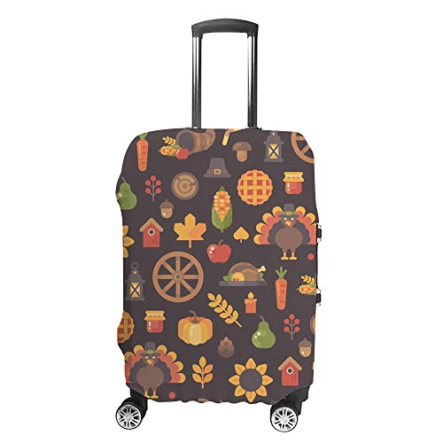 CHEHONG Suitcase Cover Luggage Cover Autumn Icons Travel Trolley Case Protective Washable Polyester Fiber Elastic Dustproof Fits 29-32 Inch