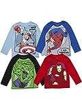 Marvel Spiderman Toddler Boys Raglan 4 Pack Long Sleeve...