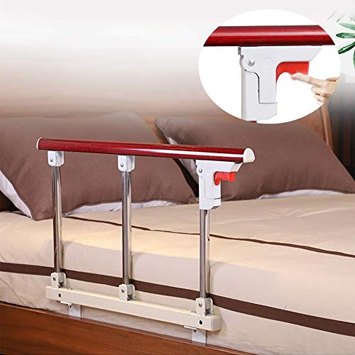 Find Discount CHICTI Bed Rails for Elderly, Foldable Adults Home Safety Mobility Bedside Side Hand R...