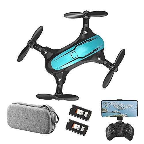 LYHY Mini Drone per Bambini con Fotocamera 480P HD FPV, quadricottero Pieghevole, Flip 3D, Controllo dei gesti, Giocattoli Regalo per Bambini per Ragazzi e Ragazze 2 batterie