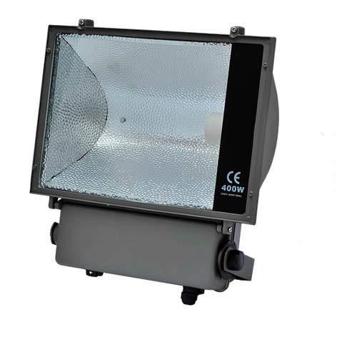 Flutlichtstrahler 250W/400W E40 komplett Fluter HQI IP65 GTV symmetrisch (400W)