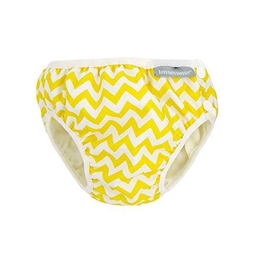 Imsevimse Badewindel Aquawindel Schwimmwindel Zick Zack Gelb (Yellow Zig Zag, SL (13-17 kg))