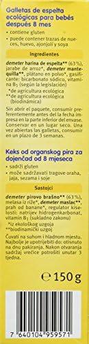 Holle Galletas de Fruta Pera/Manzana - 4 Paquetes de 125 gr - Total: 500 gr: Amazon.es: Alimentación y bebidas