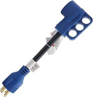 FAVOMOTO 30 Amp para 50 Amp Adaptador RV Dogbone Conversor de Energia Elétrica Com Grip Alça para RV Reboque 125/ 250V
