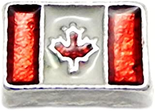 Cherityne Canada Flag Floating Charm for Locket Pendants