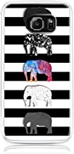 S6 Case,Galaxy S6 Case Samsung Galaxy S6 Case - Lightweight Slim Protective Case Cover Hard Case for Galaxy S6 SVI SM-G920F Mini Cute Elephant on Black and White Stripes