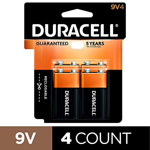 Duracell - CopperTop 9V Alkaline Batteries - long lasting, all-purpose 9 Volt...