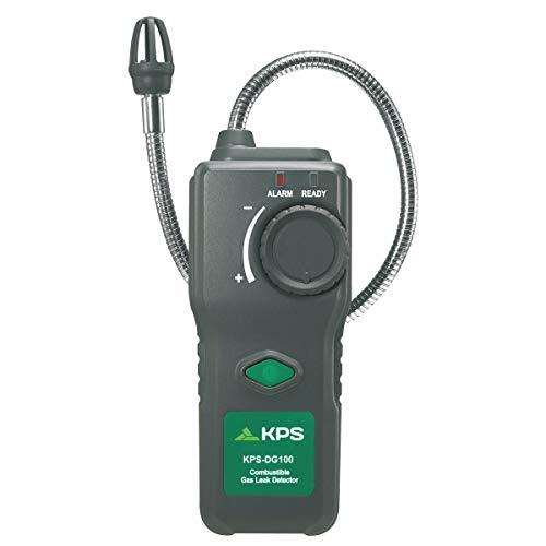 Detector de gas profesional KPS-DG100. Detecta Gas natural, Metano, Etano, Propano, Butano, Acetona, Alcohol, Amoníaco, CO, Gasolina, Disolventes de Hidrógeno, Diluyente de laca, Nafta.