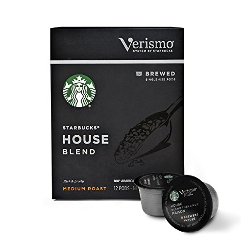 Starbucks Medium Roast Verismo Coffee Pods — House Blend for Verismo Brewers — 6 boxes (72 pods total)