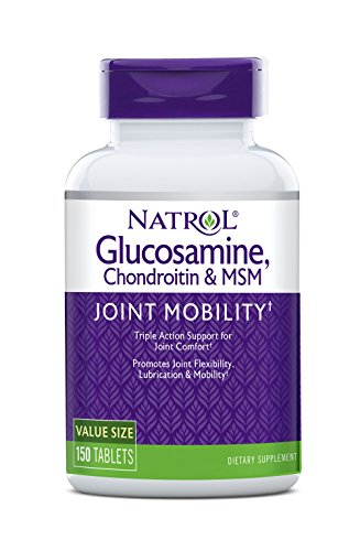 Natrol MSM Glucosamin Hyaluronsäure Gelenkformel Bindegewebe 150 Kapseln