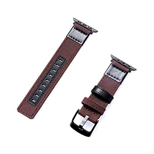 Kompatibel mit Apple Watch Armband 38 mm/40 mm/42 mm/44 mm, Nylonband, modisch, kompatibel mit der Serie iWatch 5/4/3/2/1, austauschbare Handgelenkschlaufe. 40mm/4-5 braun