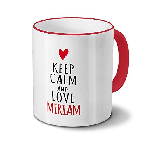 Tasse mit Namen Miriam - Motiv