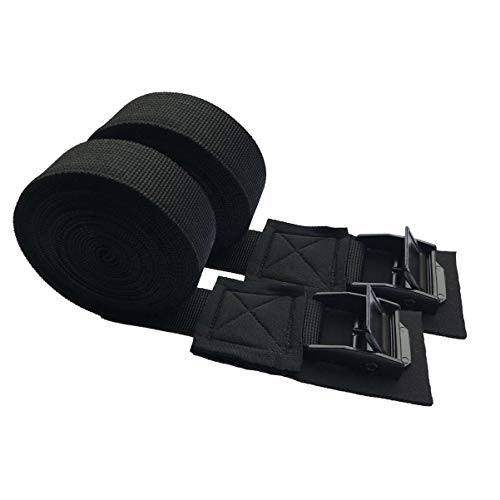 Abaodam 2 correas negras de alta resistencia para cargas pesadas, correas vinculantes de...