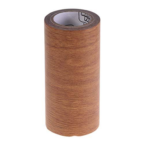 Cinta de reparación de muebles, cinta adhesiva de madera realista para la reparación de granos, adhesivo texturizado de madera para mesa y silla en el piso de la puerta (sombreado natural)