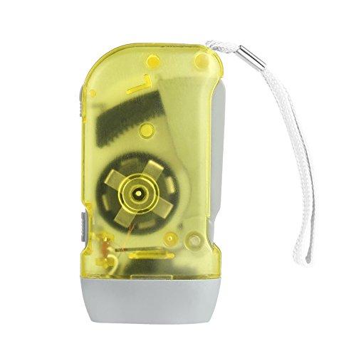 Courage Ouyang 3 LED mano presionando dinamo manivela energía viento arriba linterna antorcha mano prensa manivela camping lámpara luz
