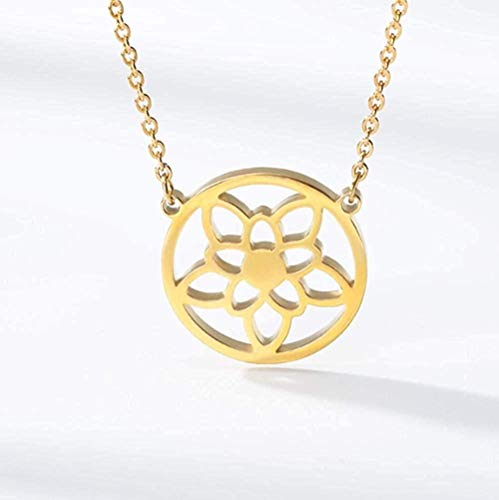 Yaoliangliang Collar Flor de la Vida Collar Budista Cadena semilla de la Vida geometría Sagrada joyería Flor de la Vida Collar