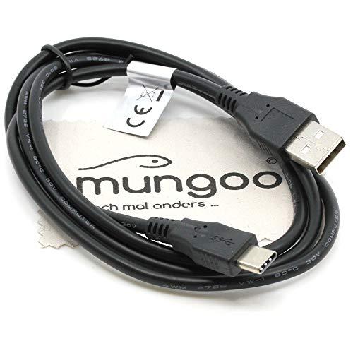 USB Datenkabel 1m kompatibel mit Sony PlayStation 5 Dual Sense, XBox Series S, XBox Series X Controller Ladekabel Datenkabel mit mungoo Displayputztuch