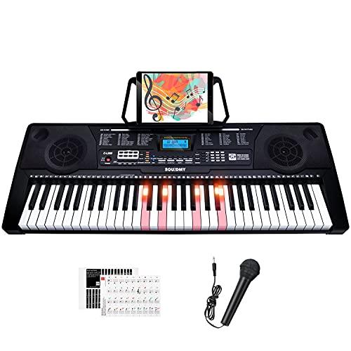 Souidmy C-L260 Es un teclado eléctrico de 61 teclas, 3...