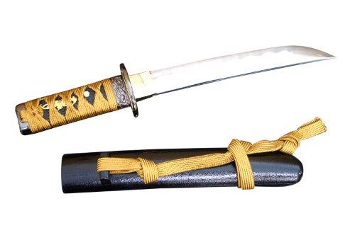 Samurai market Authentischer Japanisches Kaiken Dolch - Goldenes Band