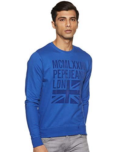 Pepe Jeans Men's Cotton Knitwear (8907557416938_PIMT200007_Royal_XL)