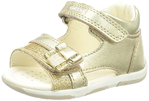 Geox Baby-Mädchen B TAPUZ Girl Sport Sandal, Gold, 22 EU
