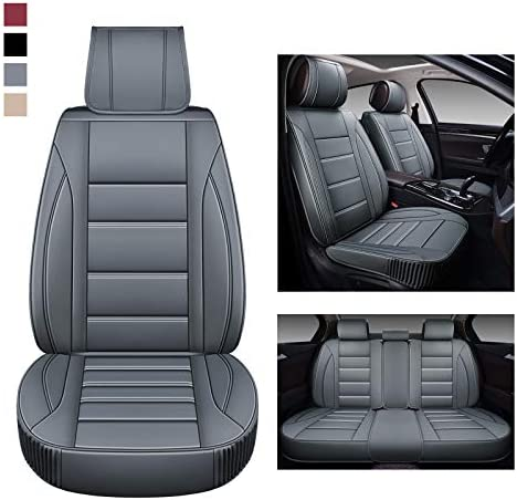 BaoLL Leather Car Seat Covers Full Set Automotive Seat Covers with Faux Waterproof Leather Leatherette product image