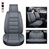 BaoLL Leather Car Seat Covers Full Set, Automotive Seat Covers with Faux Waterproof Leather, Leatherette Automotive Vehicle Cushion Cover Universal Fit Set Auto Accessories, for SUV Pick-up Truck