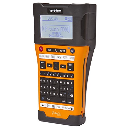 Brother PTE500 P-TOUCH HANDHELD LABELER WITH USB PORT, 23.6MM SHRINK TUBE COMPATIBLE, USING HSE