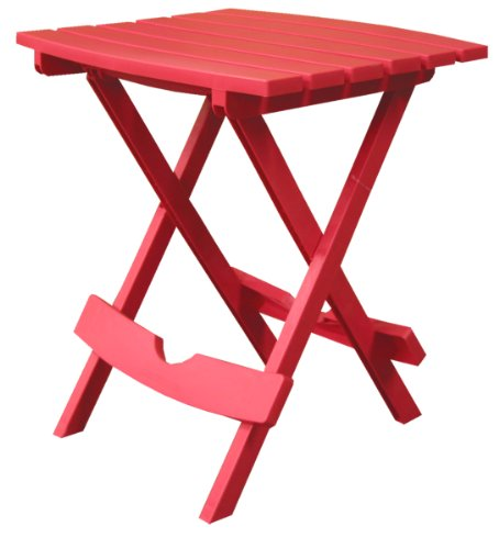 Adams Manufacturing 8500-26-3700 Plastic Quik-Fold Side Table, Cherry Red