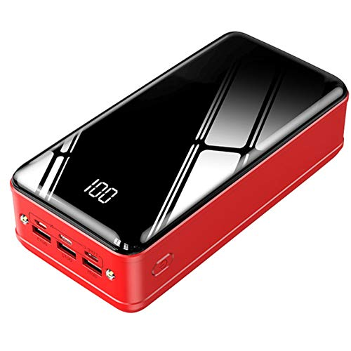 Batería Externa 50000Mah Carga Rápida Power Bank con 3 Entradas Y 2 Puertos USB Cargador Portátil Móvil Ultra Alta Capacidad con Pantalla LCD Digital Y 2 Luces Led para Smartphones Tabletas Y Más