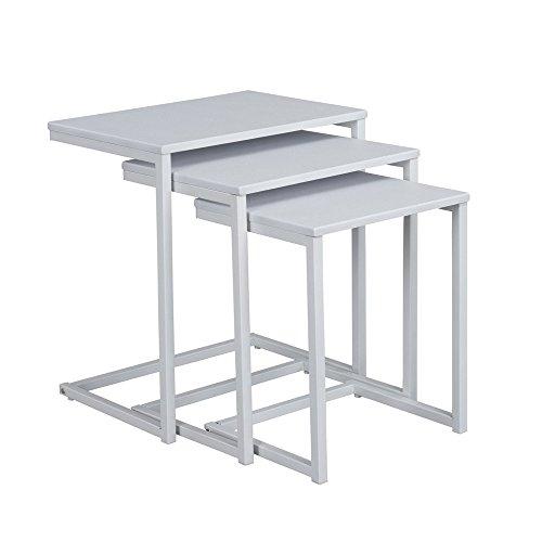 Aingoo Nesting Table Set of 3 (White)