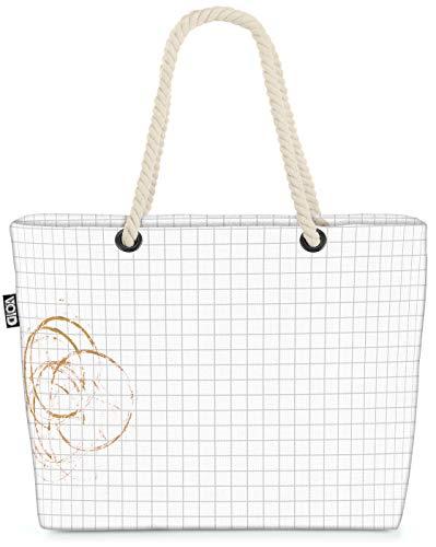 VOID Kaffeefleck Strandtasche Shopper 58x38x16cm 23L XXL Einkaufstasche Tasche Reisetasche Beach Bag