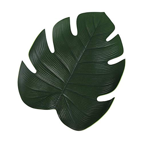 YUnnuopromi Set de table antidérapant Motif feuilles de Monstera artificielles Vert