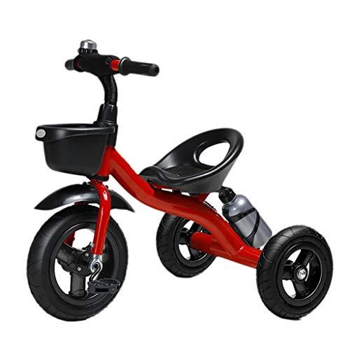 GYF Triciclo for niños Triciclo for niños Triciclo Triciclo for niños multifunción con portabidón 2-6 años Triciclo for bebé al Aire Libre 2 Colores 56x72x47cm (Color : Red)