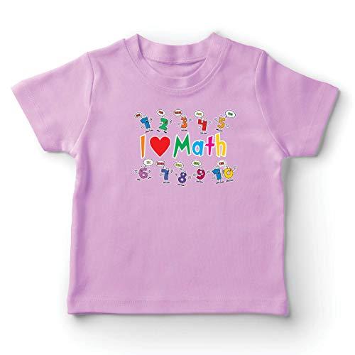 lepni.me Camiseta para Niño/Niña Amo Las matemáticas, el Regalo Educativo de Regreso a la Escuela o la graduación