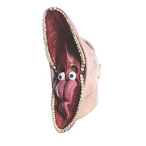 Liteness Barbara y Adam Beetlejuice Mask, máscara de Halloween para disfraz de Halloween de Halloween para adultos decoración de fiestas, aspecto de terror, tamaño libre