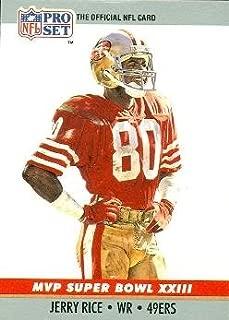 Jerry Rice Football Card (San Francisco 49ers) 1990 Pro Set Super Bowl MVP #23