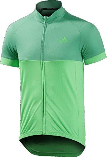 adidas Cycling Herren Radtrikot response team short sleeve jersey, bright green s15/flash green s15/Grey, M