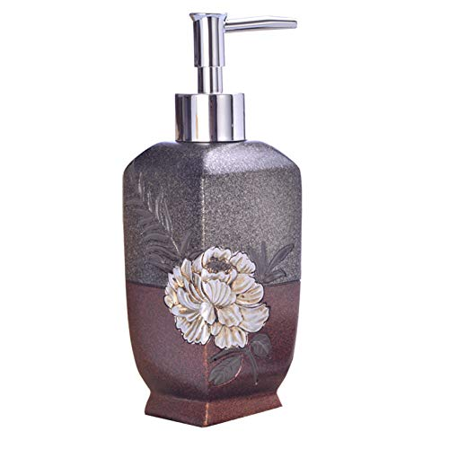 YHSGY Lotion & Soap Dispensers Natural Resin Pump Liquid Soap Dispenser Luxury Brand Bathroom Kitchen Sink Lotion Shower Shampoo Hand Soap Dispenser Bottle