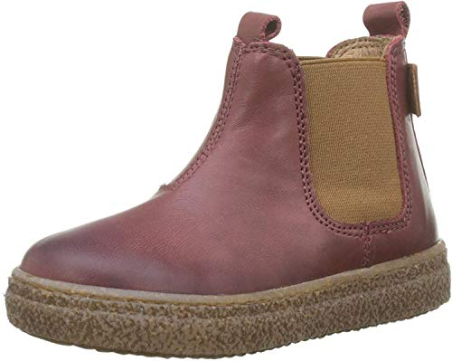 Naturino Unisex-Kinder Figus Chelsea Boots, Rot (Bruciato 0d03), 25 EU
