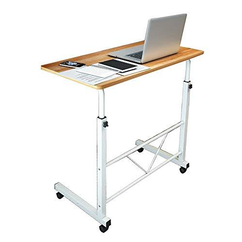 Axdwfd bijzettafel Verstelbare Lap Tafel Draagbare Laptop Computer Stand Bureau 60x40cm Winkelwagen Bijzettafel Voor Bed Sofa Ziekenhuis Verpleging Lezen