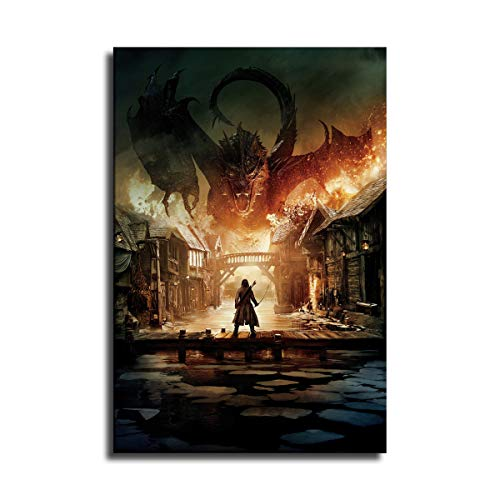 The Hobbit The Battle of Smaug Wall Art Decor Canvas Painting Poster Print Canvas Art Pictures for Room Home Decor 05 (NO Framed,24X36 INCH)