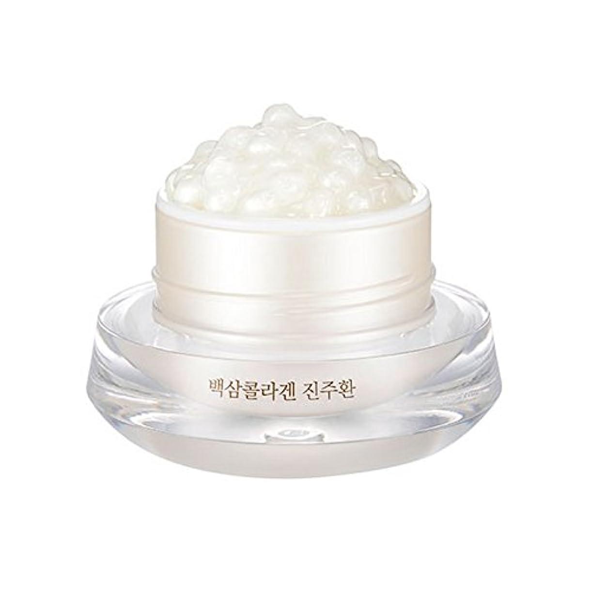 週末干し草厚さ[ザ?フェイスショップ] The Face Shop 白参 コラーゲン パール カプセルクリーム White Ginseng Collagen Pearl Capsule Cream [並行輸入品]